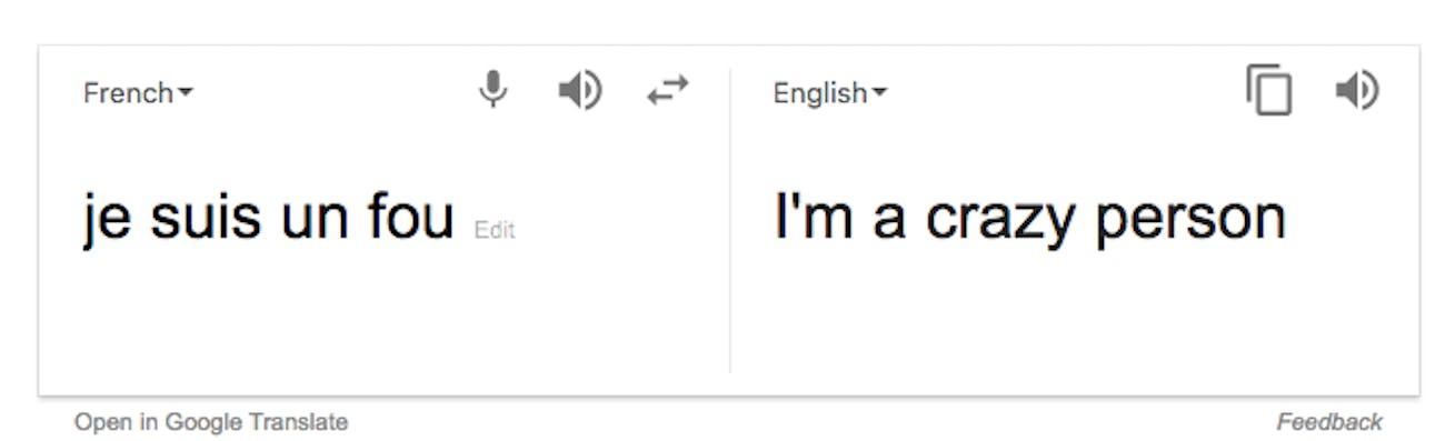 google translate french to english