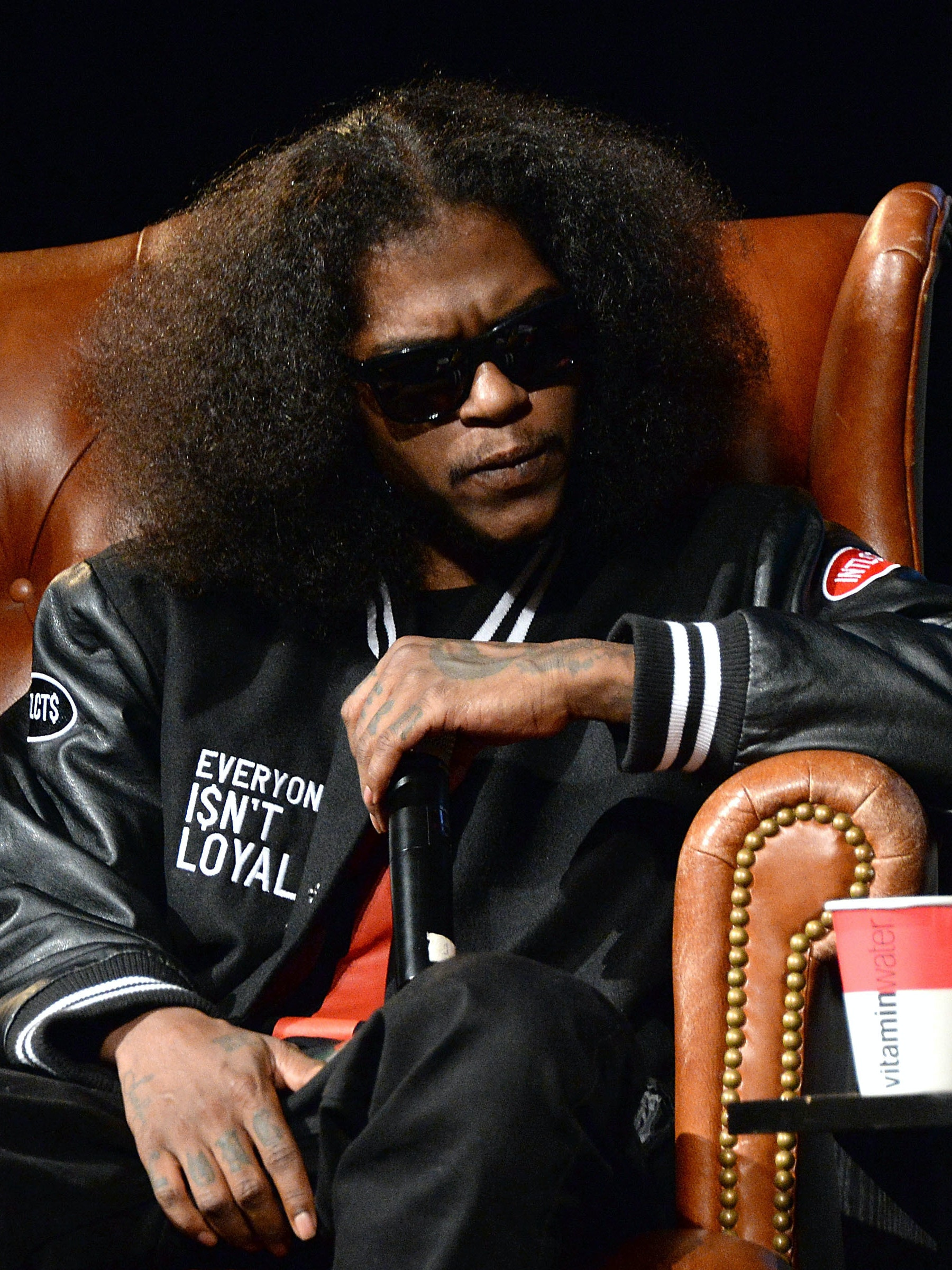 NEW YORK, NY - SEPTEMBER 16:  Rapper Ab-Soul speaks at Elliott Wilson hosts CRWN with Ab-Soul for WatchLOUD.com, presented by vitaminwater at the SVA Theater on September 16, 2014 in New York City.  (Photo by Ben Gabbe/Getty Images for Electus Digital)