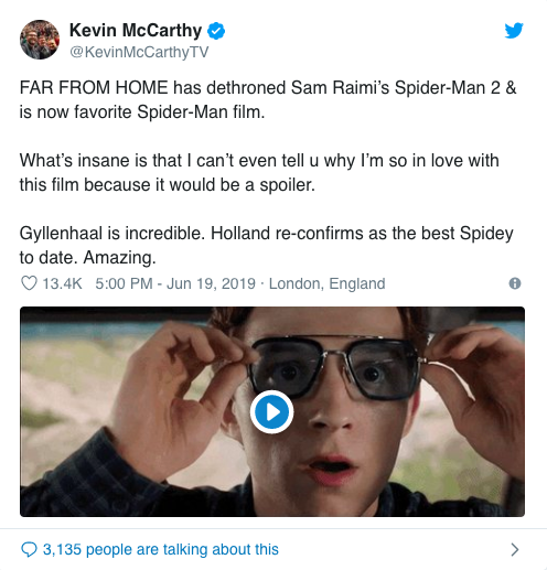 Spider-Man: Far From Home' Reviews: Early Reactions Say It's
