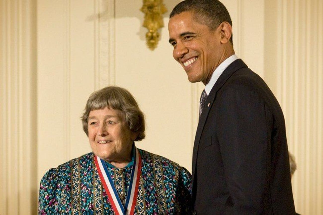 Yvonne Brill receiving  2010 National Medal of Science