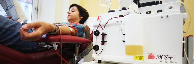 Stanford recently complete a trial on blood plasma transfusions.