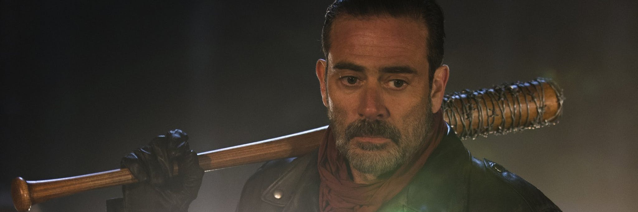 Jeffrey Dean Morgan as the villain Negan in 'The Walking Dead'
