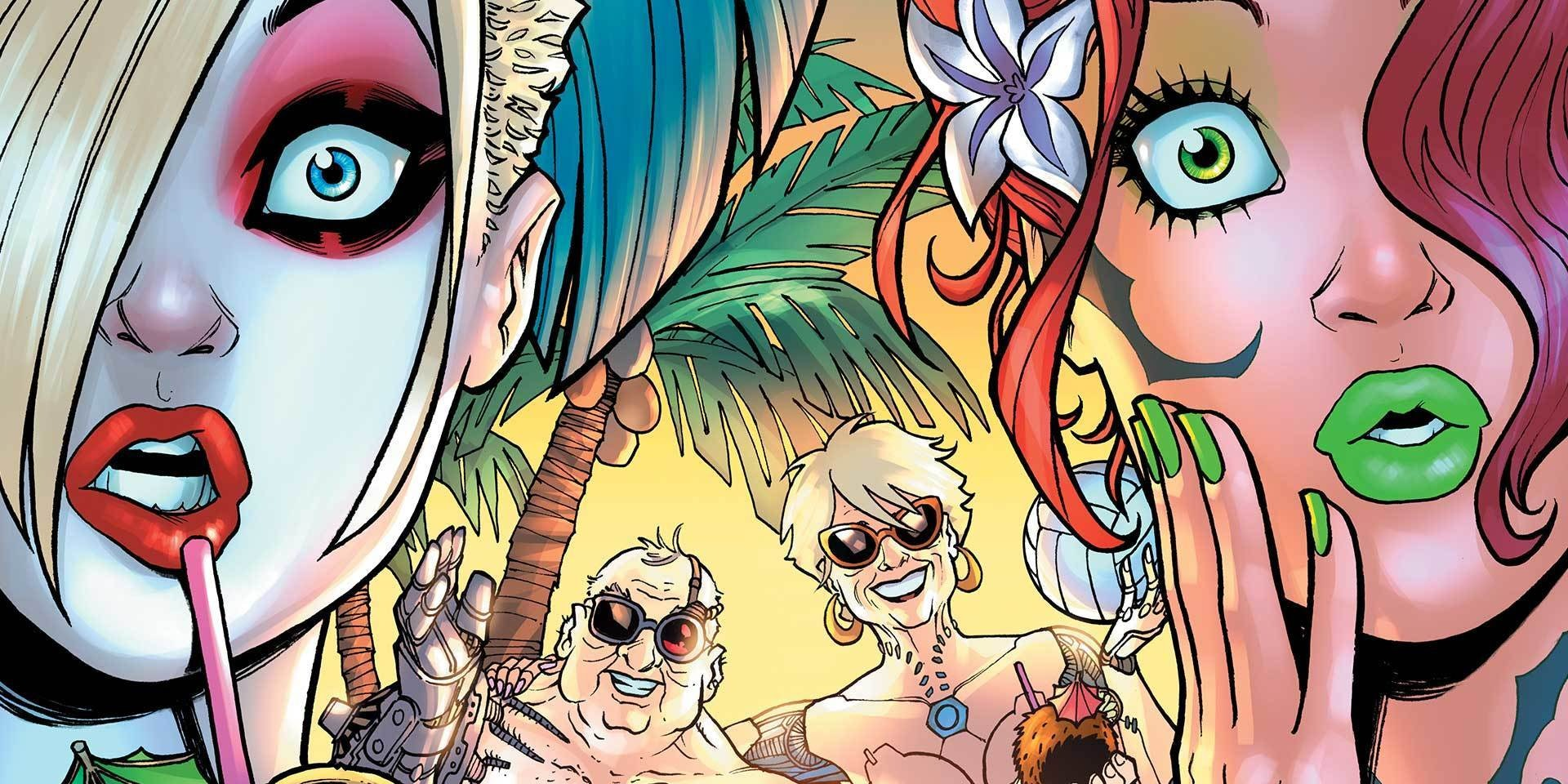 Harley and Poison Ivy visit a nudist colony in the Bahamas.