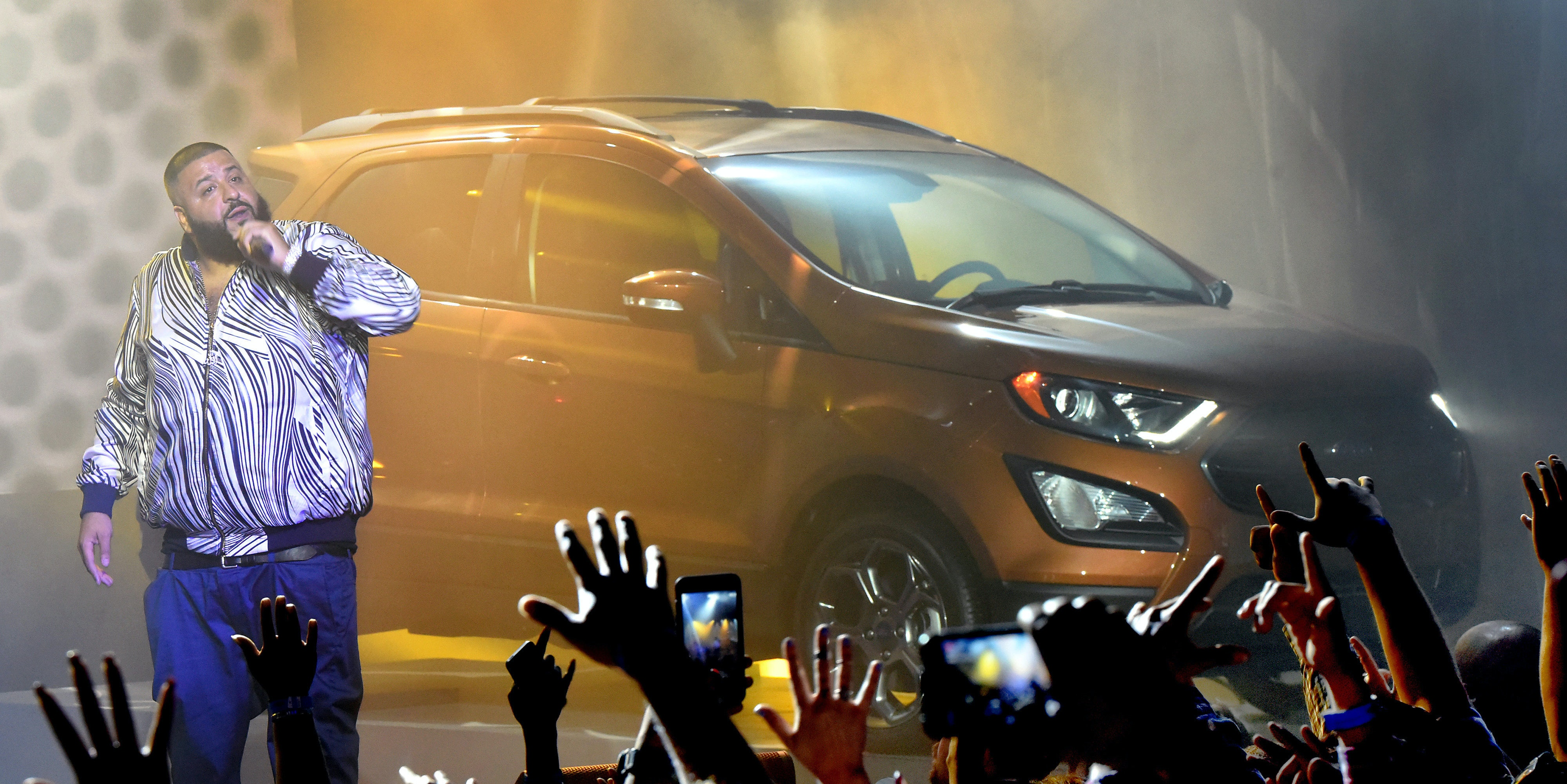 DJ Khaled introduces the Ford EcoSport on Monday in Los Angeles.