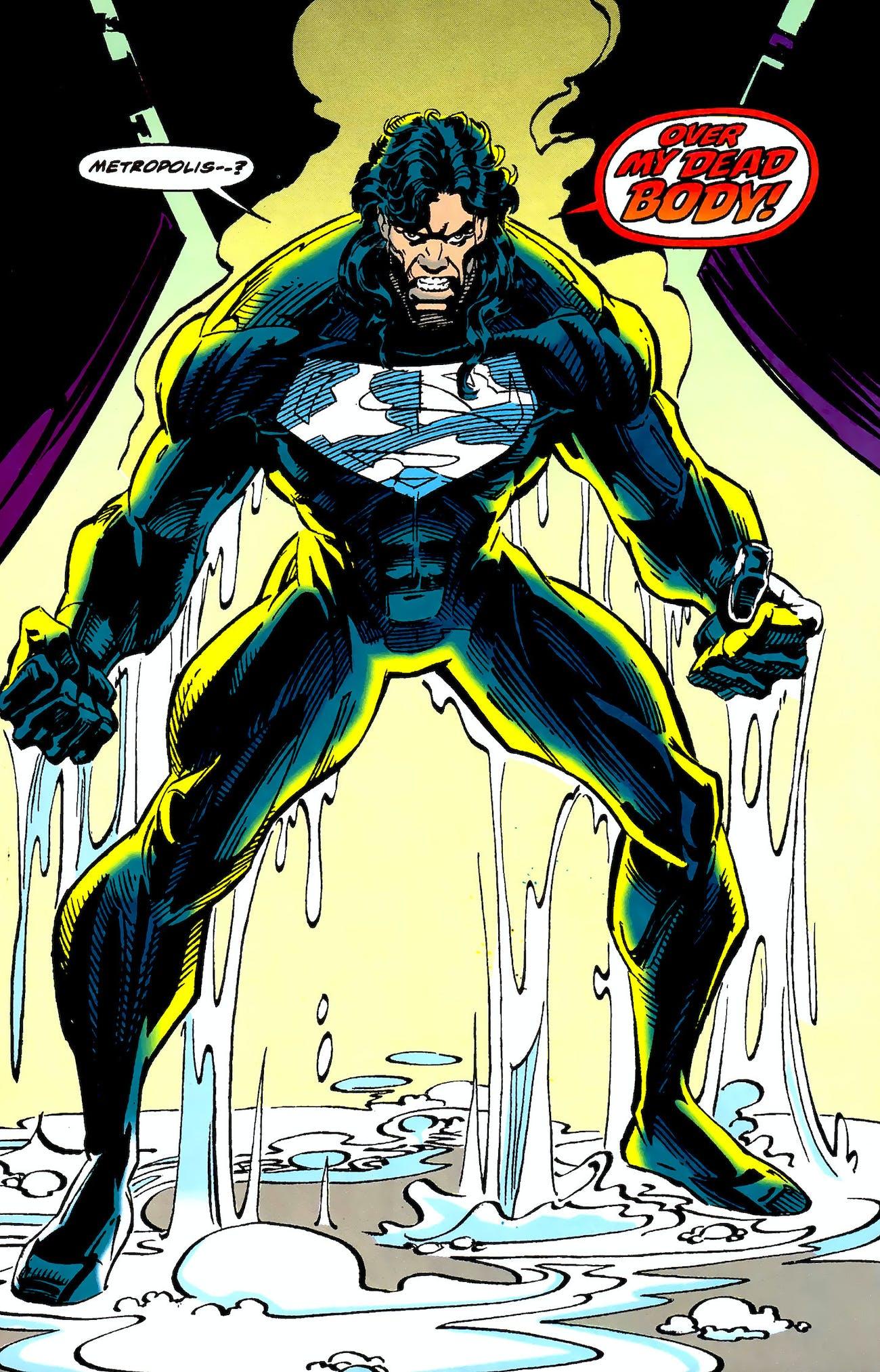Superman Black Suit Justice League