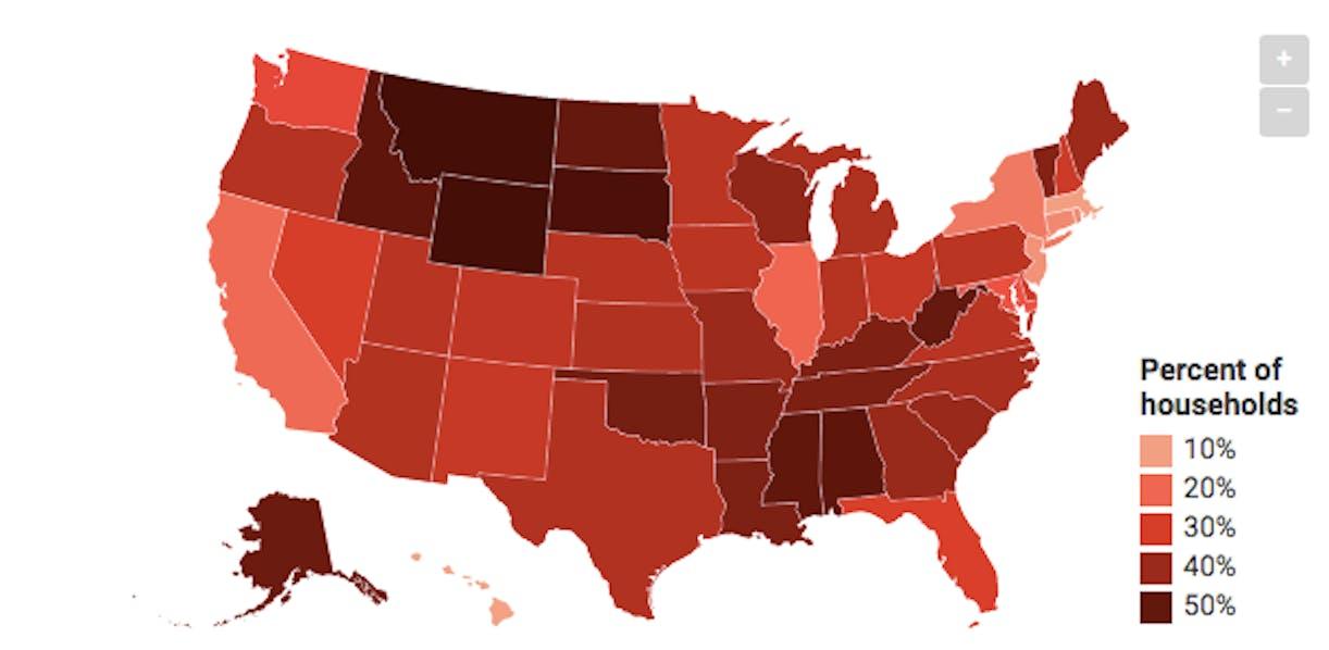 Map of US gun ownership