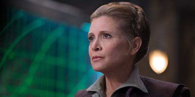 General Leia Organa in 'The Force Awakens'.