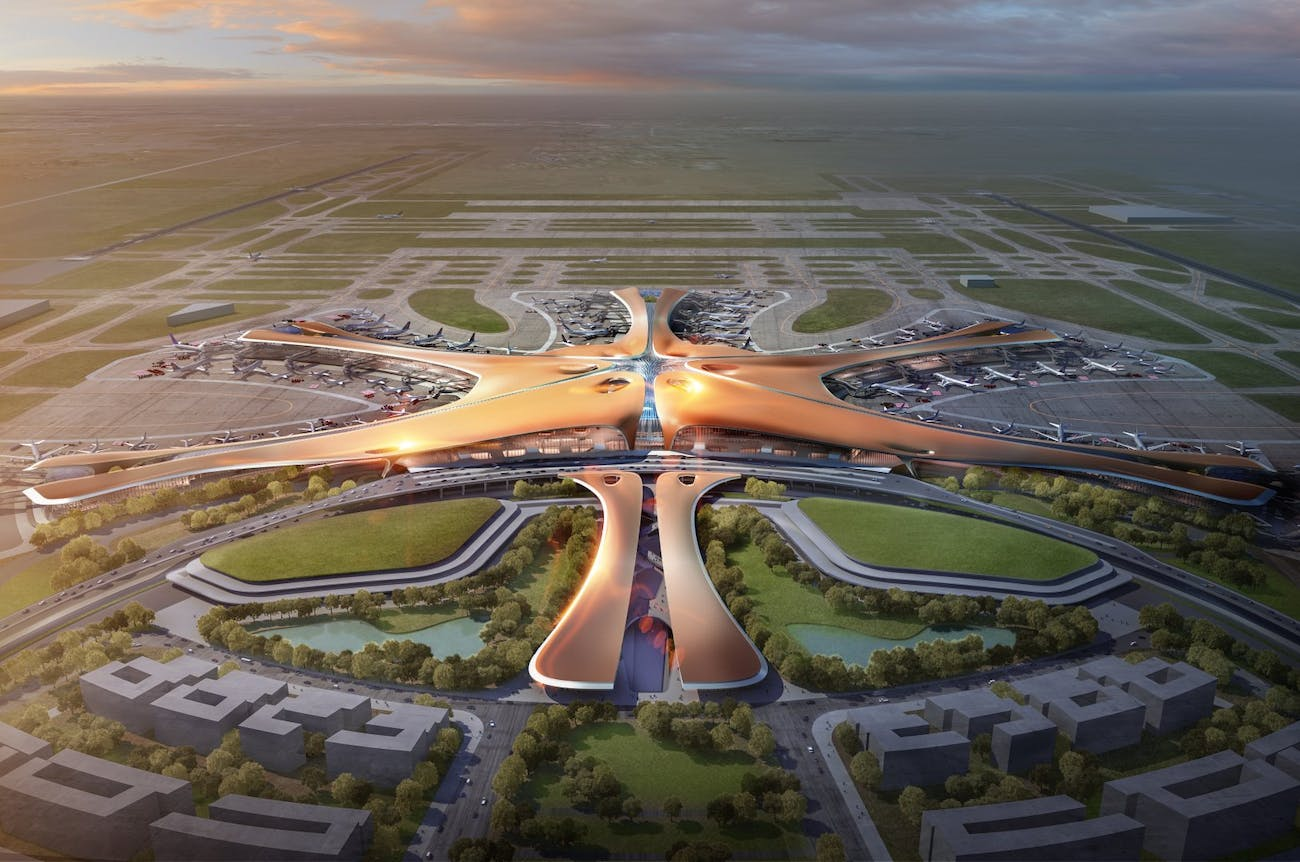 zaha hadid airport design china
