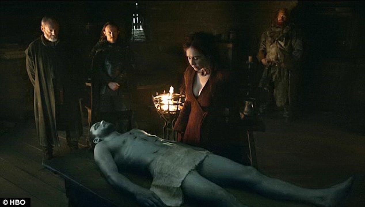 jon snow dead towel melisandre tormund kit harrington game of thrones got