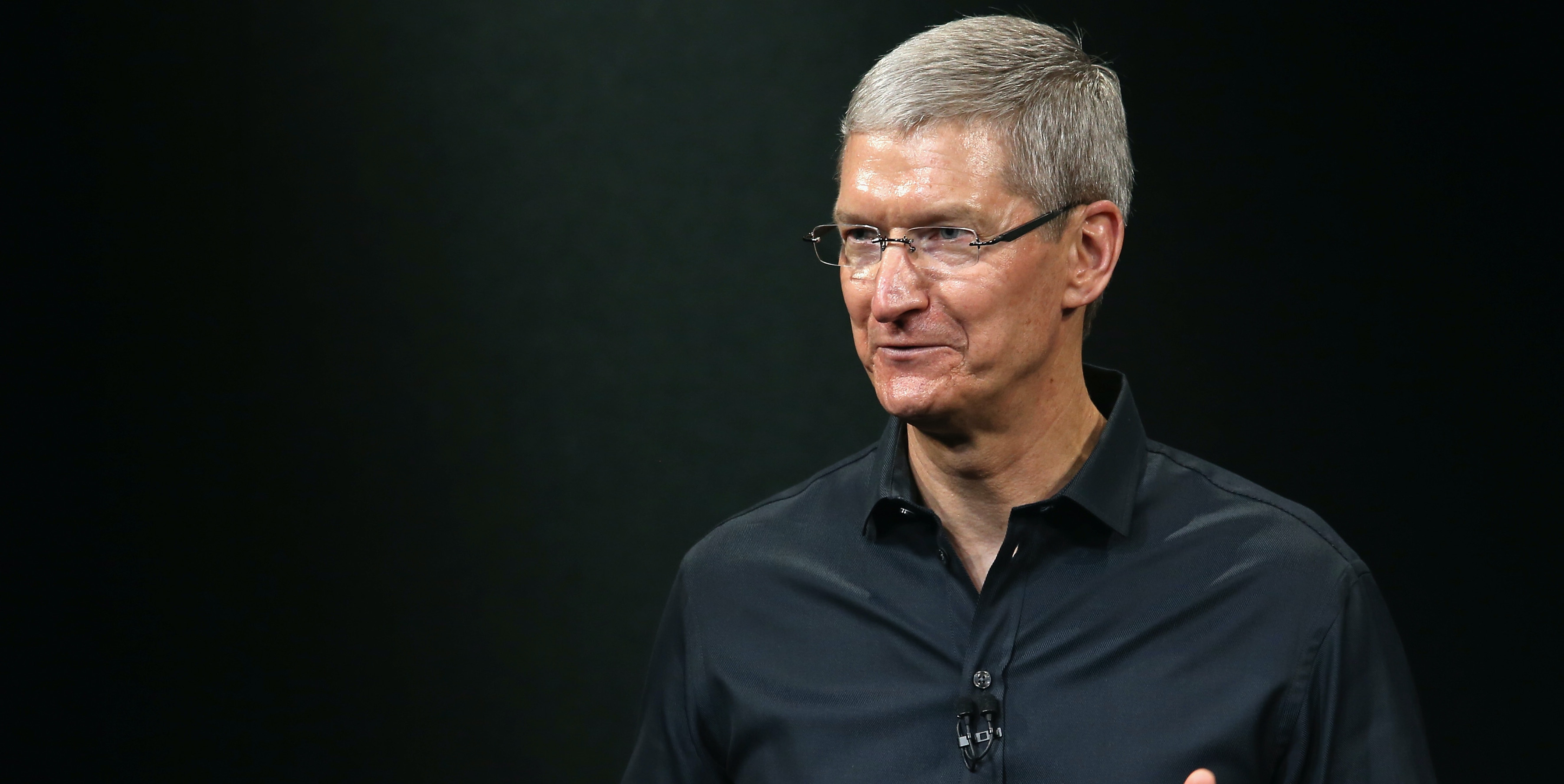 CUPERTINO, CA - SEPTEMBER 10:  Apple CEO Tim Cook speaks on stage during an Apple product announcement at the Apple campus on September 10, 2013 in Cupertino, California. The company is expected to launch at least one new iPhone model.  (Photo by Justin Sullivan/Getty Images)