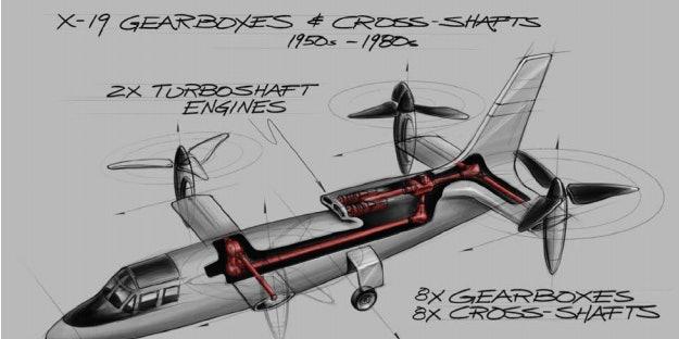 An artist's rendering of the VTOL.