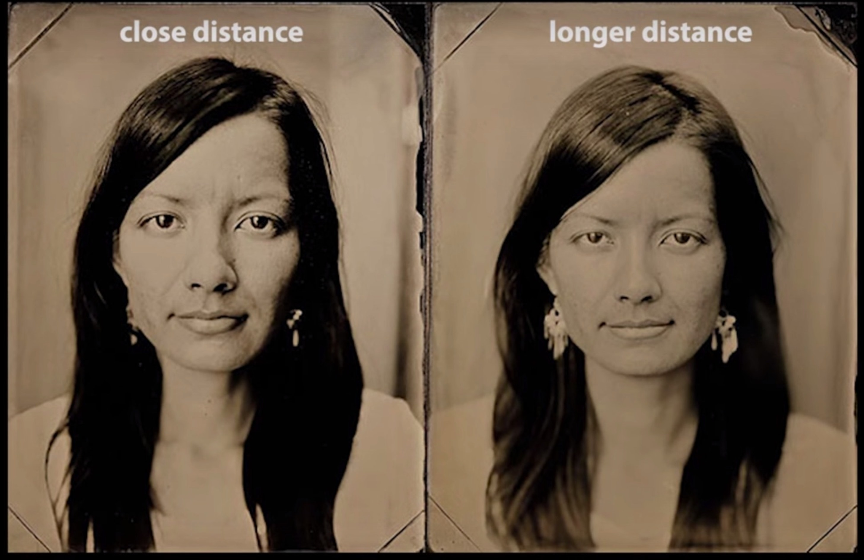 The differences between portraits taken from short distances and long distances are pretty major