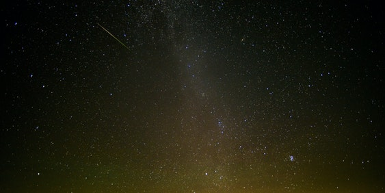 The 2016 Perseid meteor shower in West Virginia.