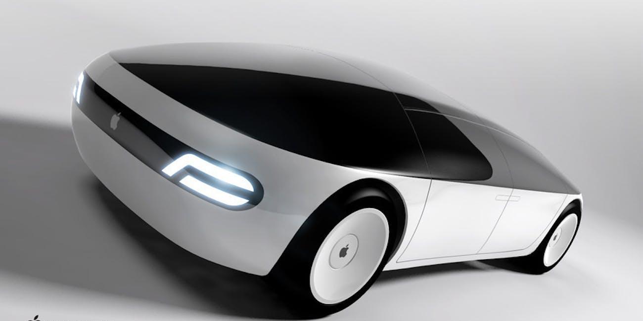 An artist's imagining of an Apple car.