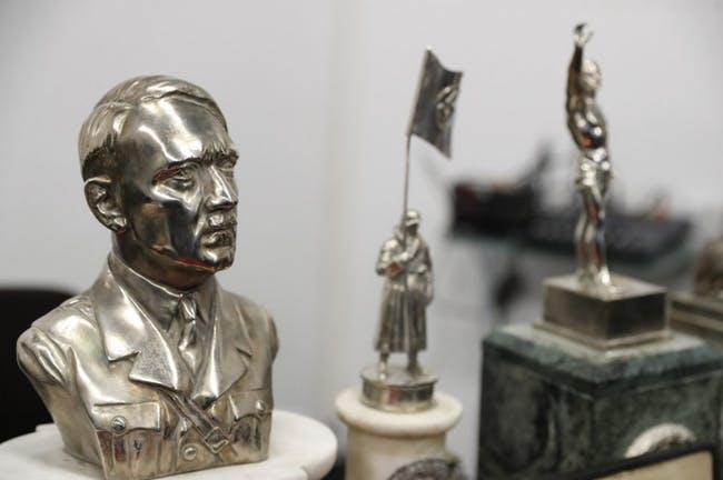 Hitler bust Nazi artifacts