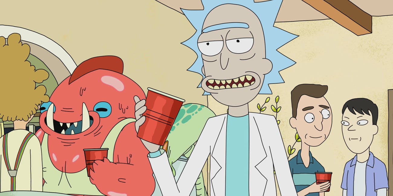 'Rick and Morty' party episode.