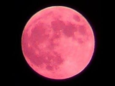 Strawberry Moon Seen in Strawberry, Arizona