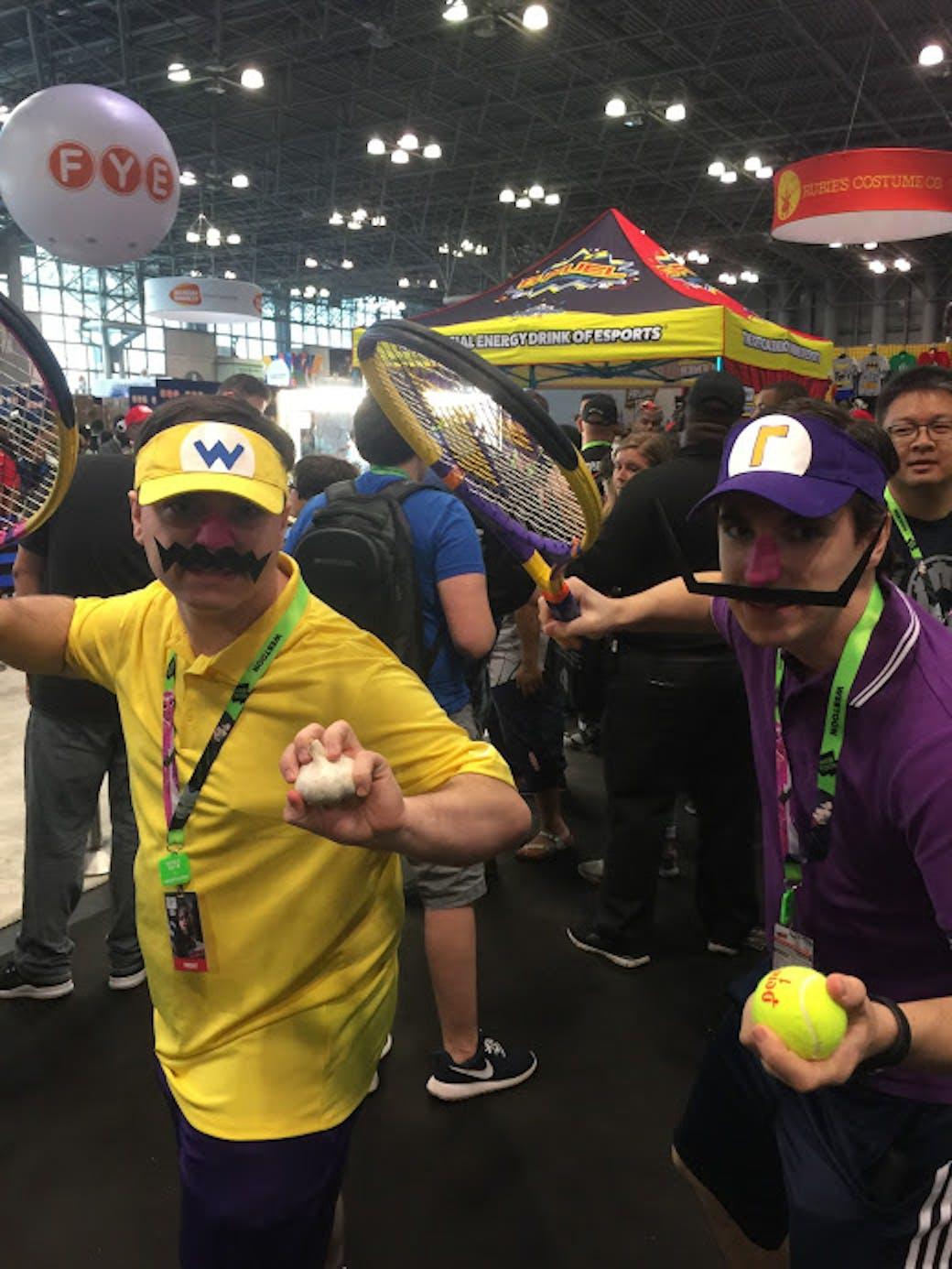Waluigi and Wario in their Mario Tennis best