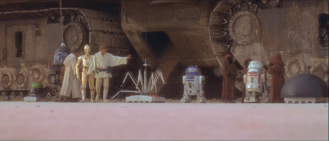C-3PO and Luke Skywalker in 'Star Wars'