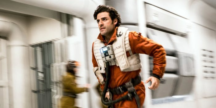 Poe Dameron in 'Star Wars: The Last Jedi'.
