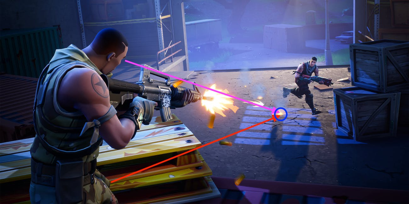 "Here's how ""dick bullets"" work in 'Fortnite' ... sort of."