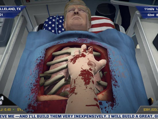 Ripping Out Donald Trump's Heart in 'Surgeon Simulator' is All About Finding It