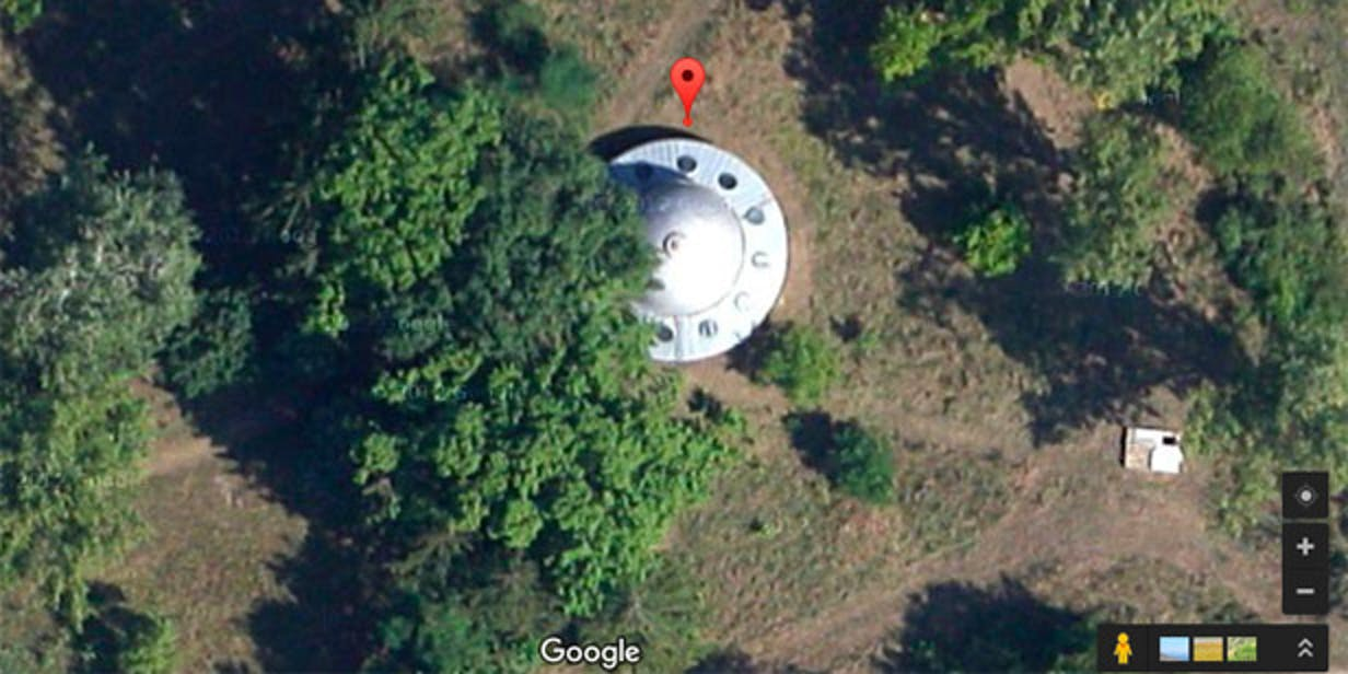 flying saucer google maps