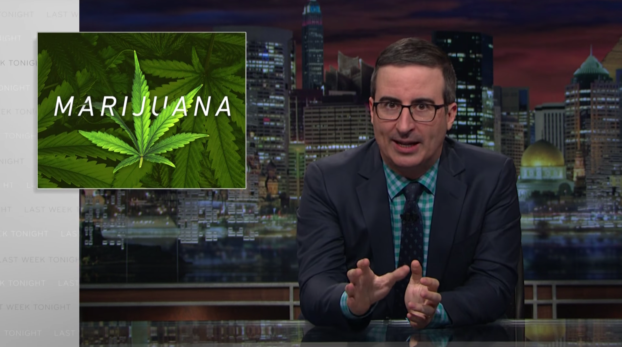 Last Week Tonight: John Oliver Rips on Federal Marijuana Rules