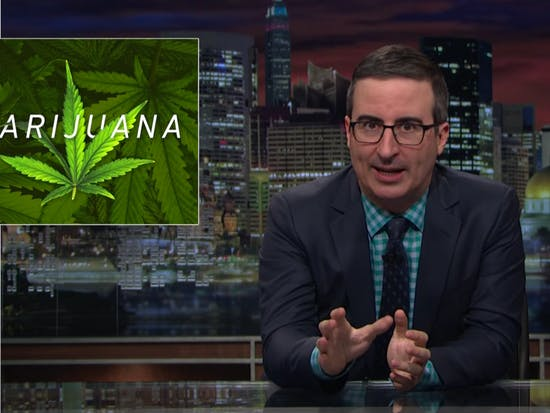 "John Oliver Slams ""Frustrating"" Federal Marijuana Laws"