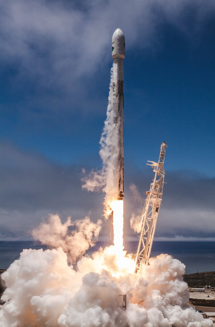 SpaceX launching.