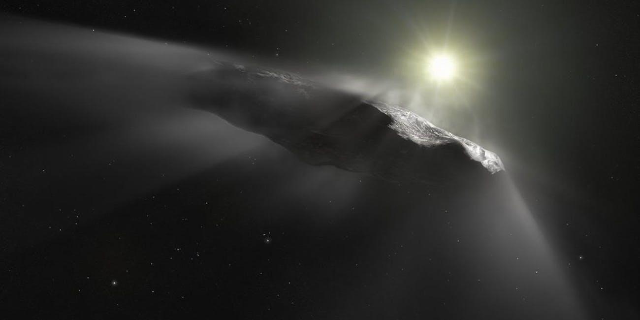 An artist's depiction of interstellar object 'Oumuamua
