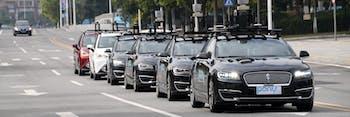 Pony.ai autonomous fleet takes to the streets.