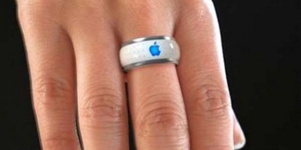 A concept image speculates what an Apple smart ring would look like.