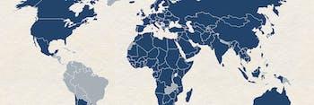 Solar panels around the world