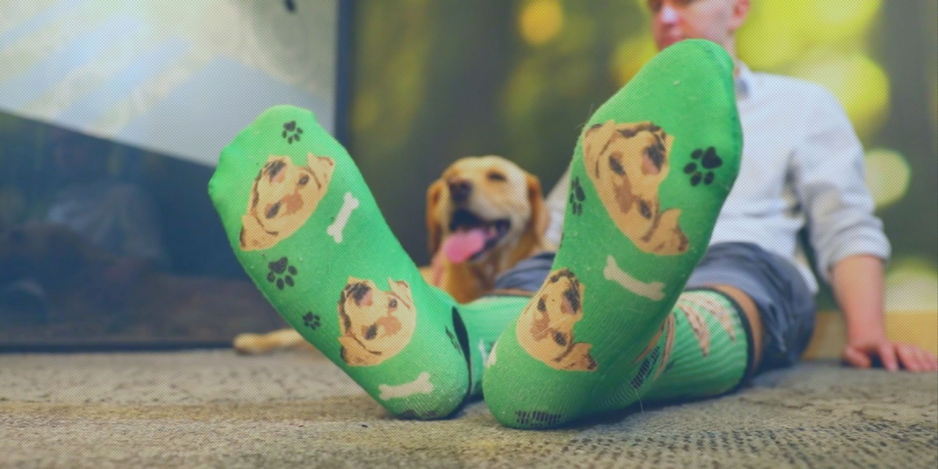 Finally, There's a Company That Will Print Your Pet's Face on a Pair of Socks