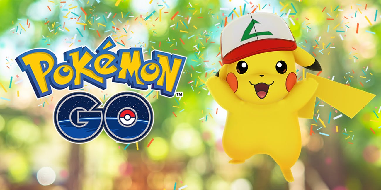 Pikachu looks pretty cool for the anniversary.