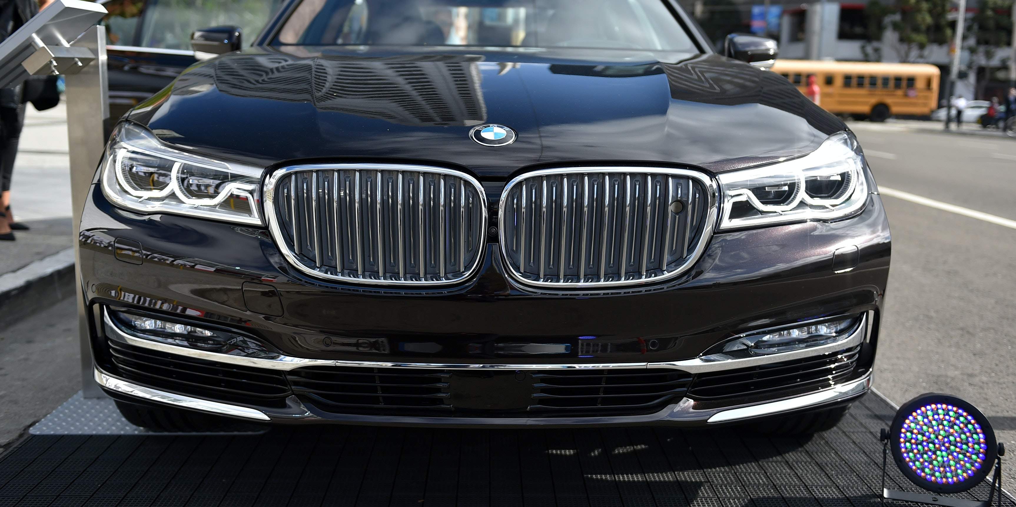 BMW car is displayed at the Vanity Fair New Establishment Summit at Yerba Buena Center for the Arts on October 6, 2015 in San Francisco, California.