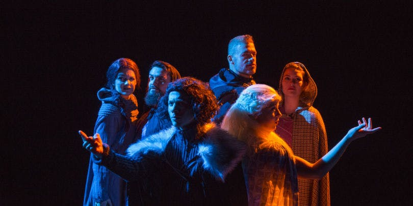 """The Chicago cast of """"Thrones!"""" during its initial run at The Apollo Theater last year."""