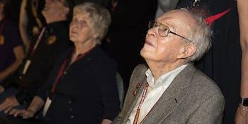 Eugene Parker watches the Parker Solar Probe launch