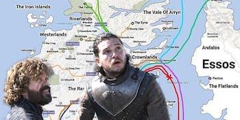 Kit Harington and Peter Dinklage in 'Game of Thrones' Season 7