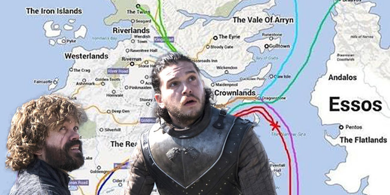 Map Shows Everyone's Crazy Travels in 'Game of Thrones ...