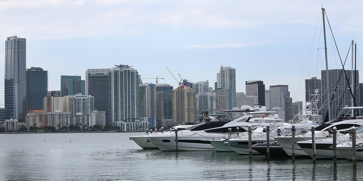 MIAMI, FL - APRIL 04: Skyscrapers and residential buildings line the beach April 4, 2016 in Miami, Florida. A report by the International Consortium of Investigative Journalists referred to as the 'Panama Papers,' based on information anonymously leaked from the Panamanian law firm Mossack Fonesca, indicates possible connections between condo purchases in South Florida and money laundering.  (Photo by Joe Raedle/Getty Images)