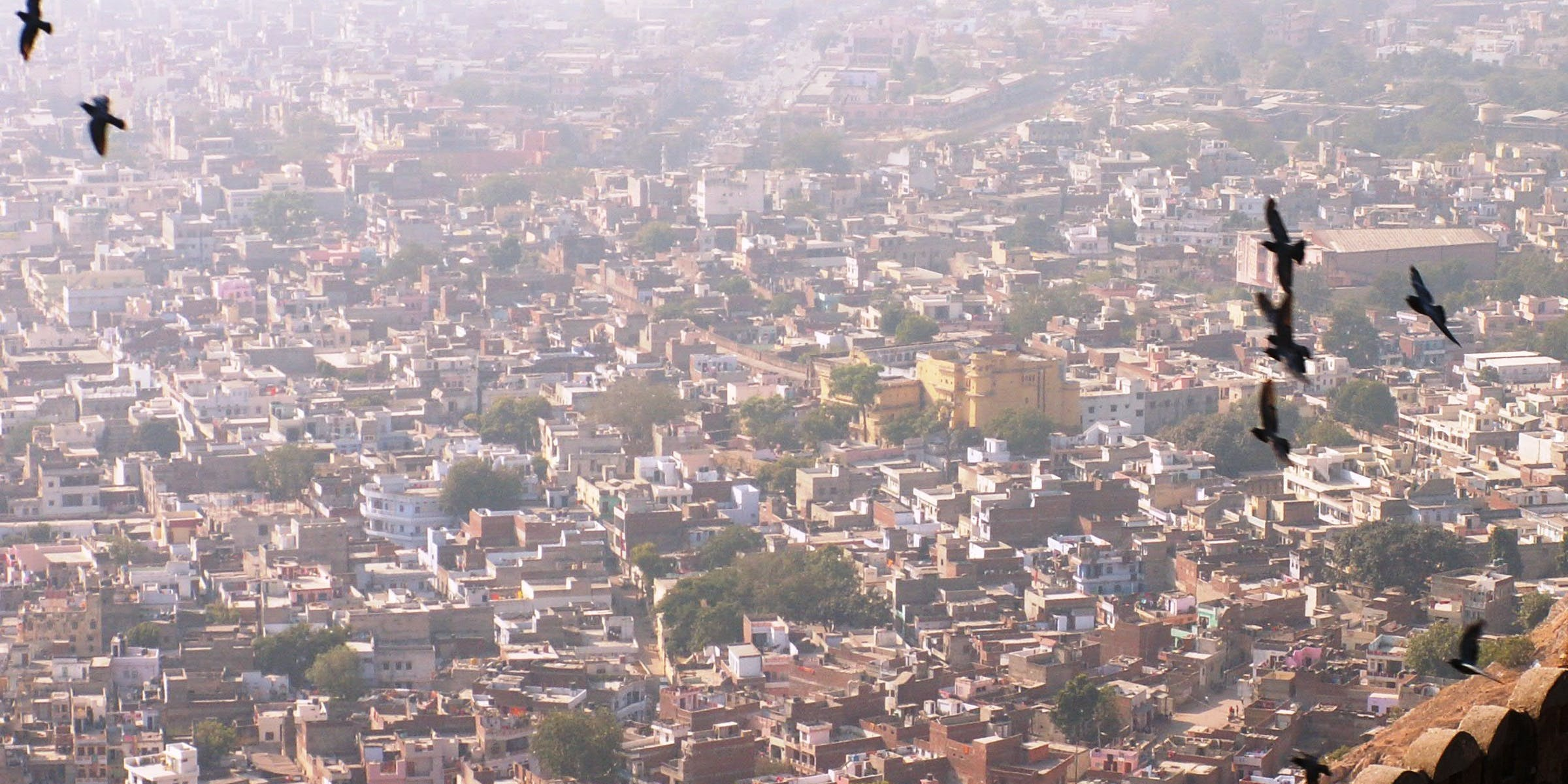 Flying over Jaipur