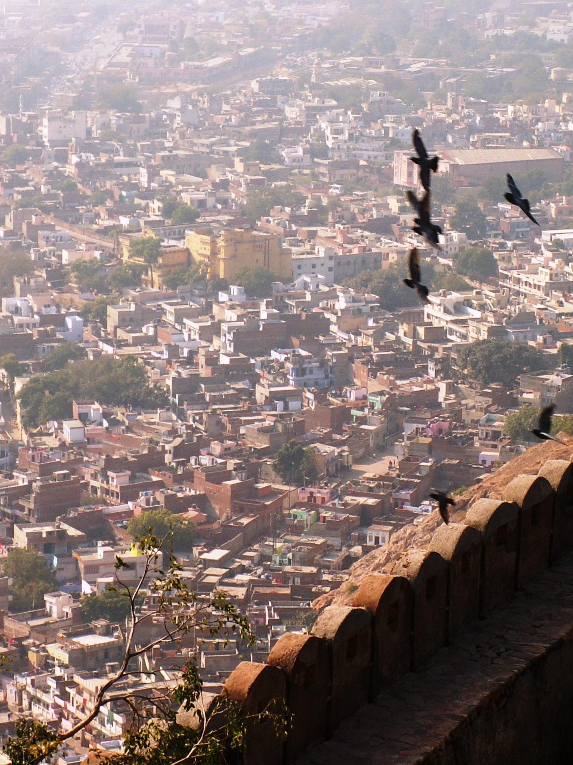 Flying over Jaipur
