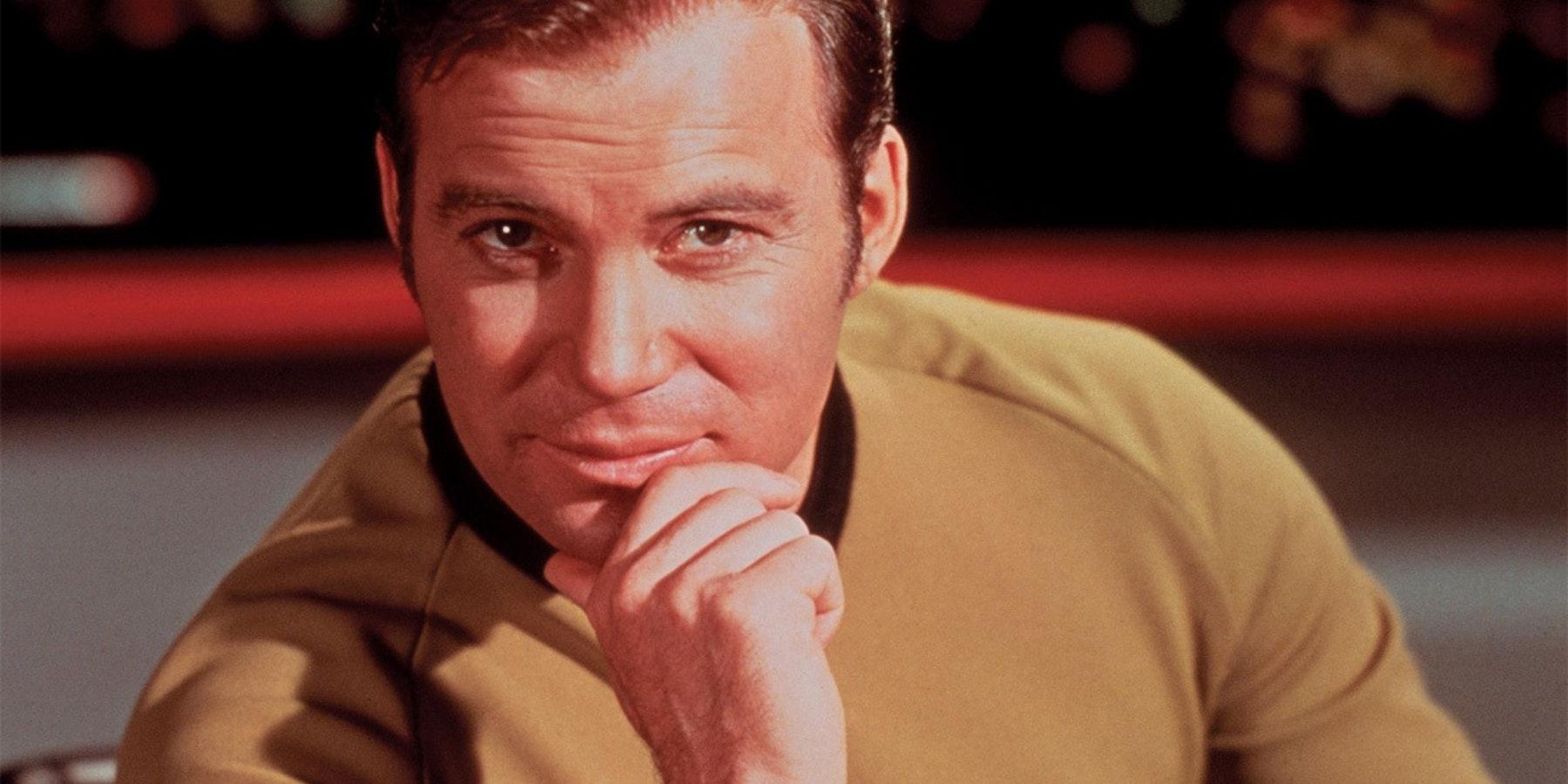 William Shatner as James Tiberius Kirk