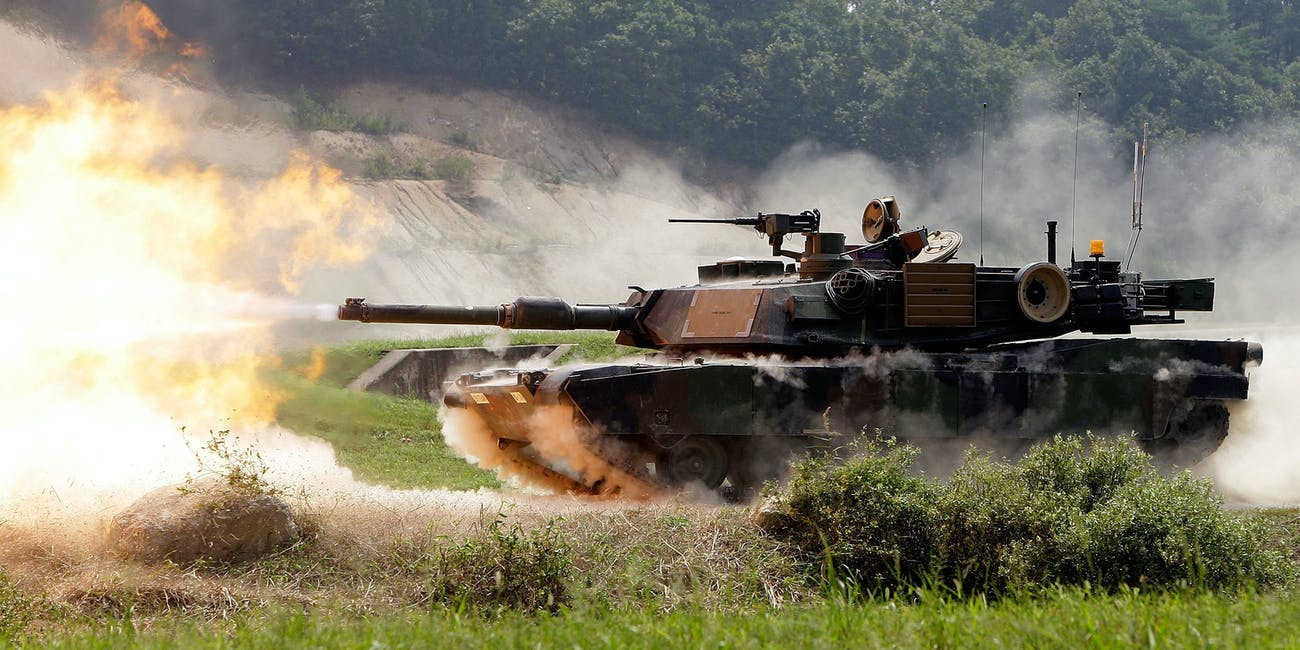 A U.S. M1A2 SEP Abrams battle tank fires live rounds during the United States and South Korean Joint live fire Exercise at Rodriguez Range on September 1, 2011 in Pocheon, South Korea. The U.S. Army 2nd Infantry Division demonstrated the digital and tactical capabilities of its new vehicle fleet at the newly renovated Rodriguez Digital Multi-Purpose Range Complex. United States army conducted a joint live fire operation with South Korean army to prepare for possible aggression by North Korea, which the South has remained technically at war with since the end of the Korean War in 1953.
