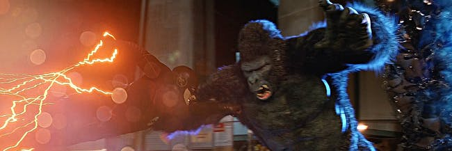 Flash (Grant Gustin) attacks Gorilla Grodd in Central City