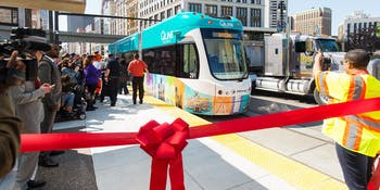 Detroit QLine Ribbon Cutting