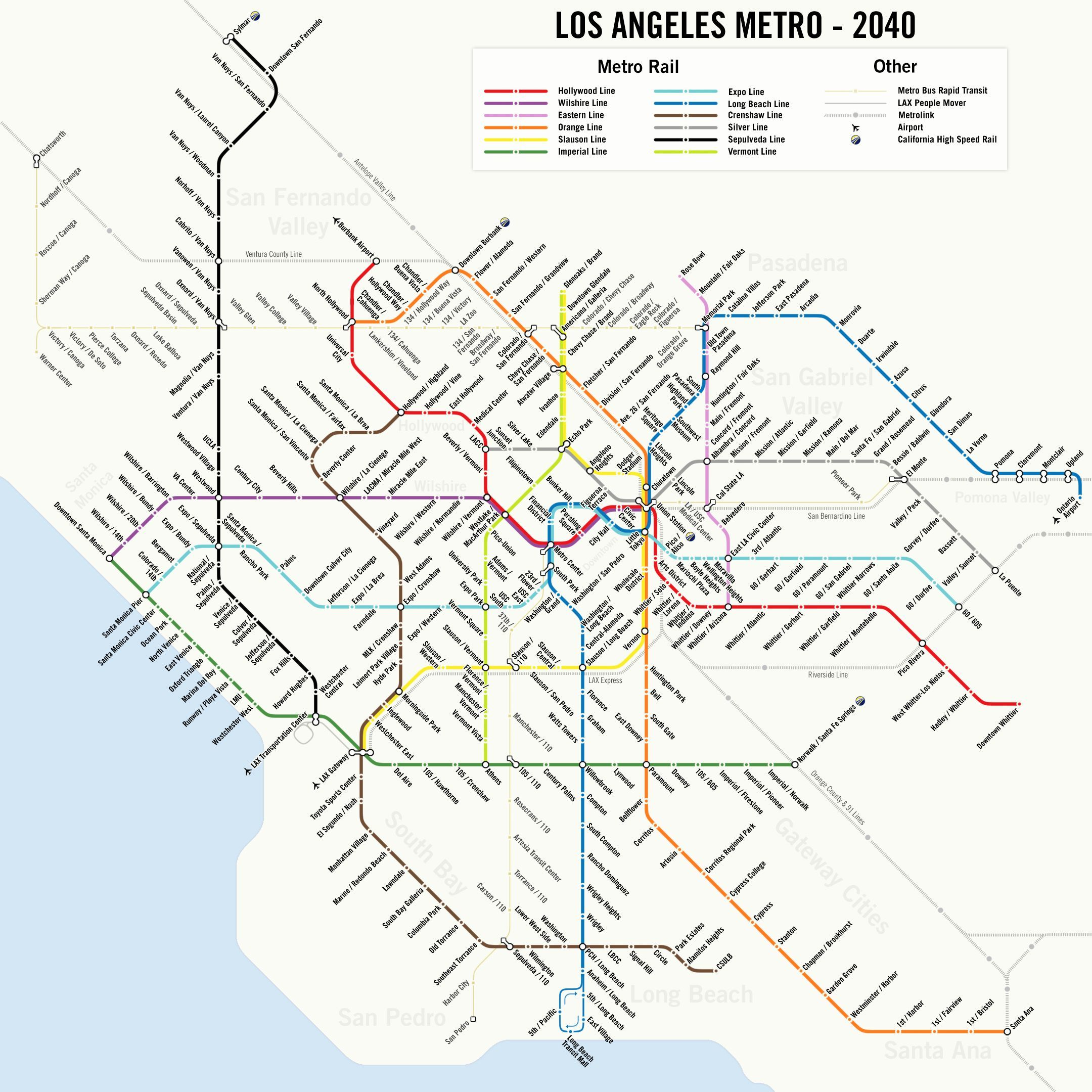 The 2024 Olympics Might Make L A s Futuristic Metro Map e True