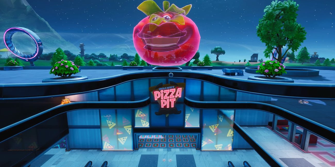 fortnite pizza pit megal mall